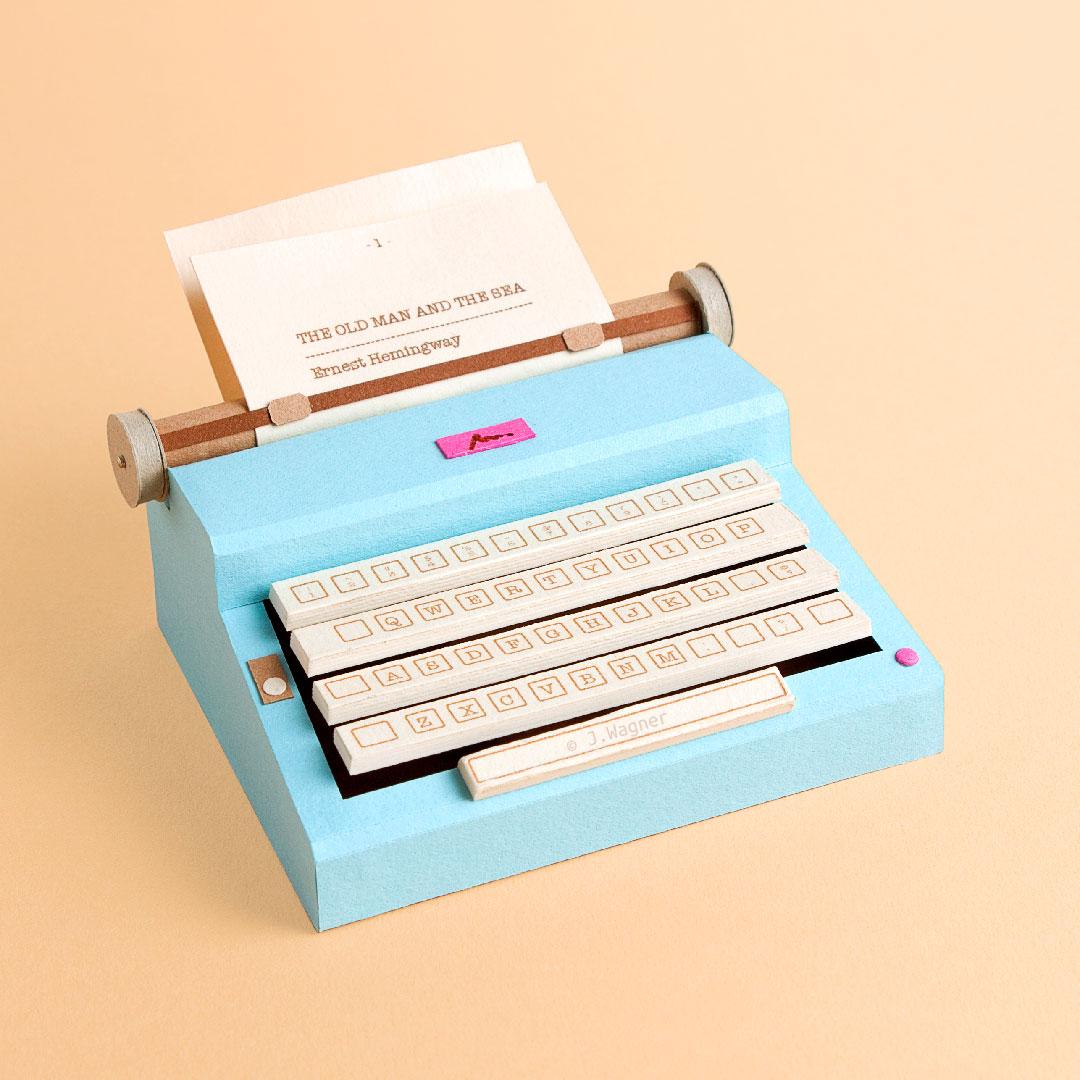 Vintage typewriter paper art.